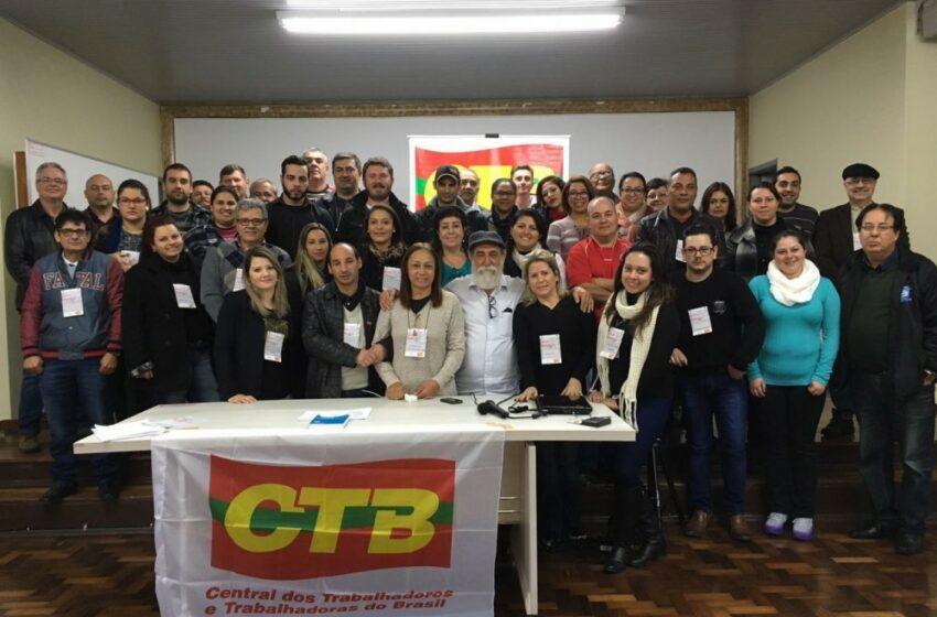 Curso de formação da CTB-RS aborda gestão financeira e reformas trabalhista e da previdência