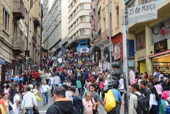 Vendas do varejo crescem 2,9% em São Paulo