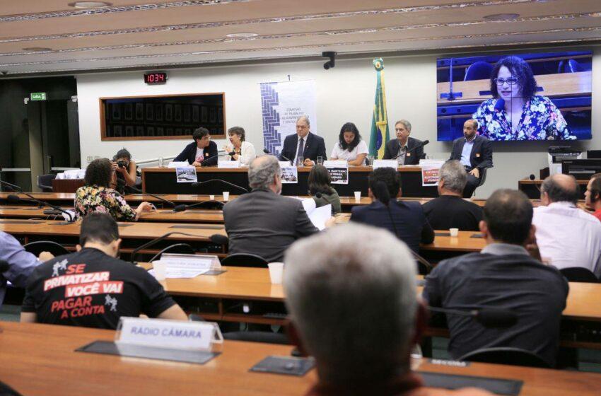 Audiência pública na Câmara debate privatização do setor elétrico