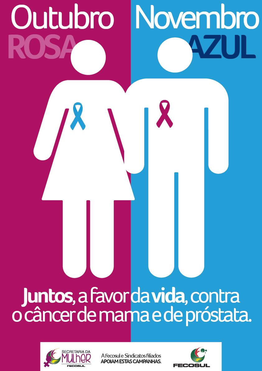 Outubro Rosa e Novembro Azul Juntos, a favor da vida, contra o c u00e2ncer de mama e de próstata  # Decoração Para Outubro Rosa E Novembro Azul