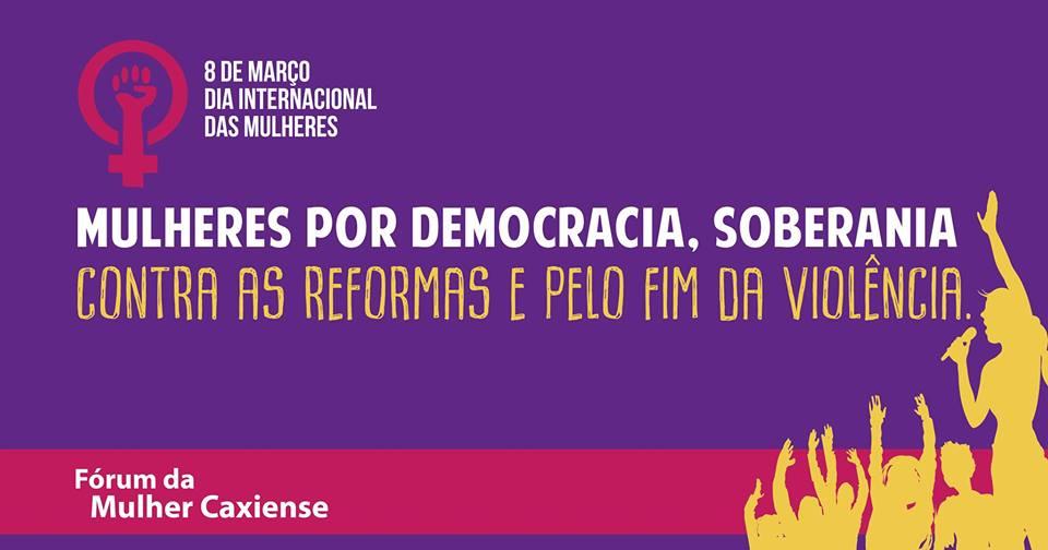Mulheres por democracia, soberania, contra as reformas e pelo fim da violência