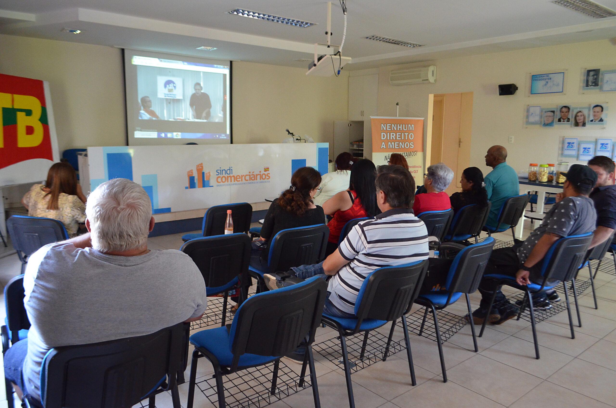 CTB realiza aula virtual de formação sobre a Reforma da Previdência