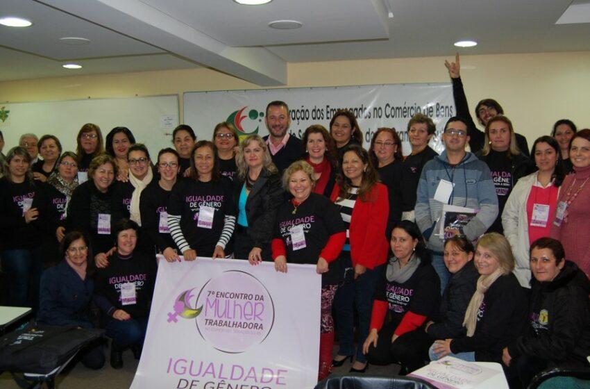Fecosul realiza 8º Encontro da Mulher Trabalhadora no Comércio do RS