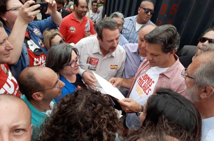 Carta de Reivindicações dos Sindicatos de Trabalhadores de Caxias do Sul e Serra Gaúcha aos Candidatos à Presidência, HADDAD e MANUELA