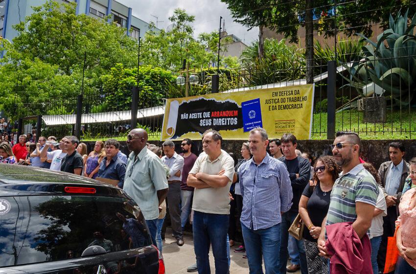Caxias recebe ato em defesa da Justiça do Trabalho