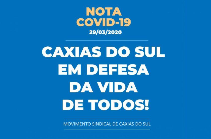 CAXIAS DO SUL EM DEFESA DA VIDA DE TODOS!
