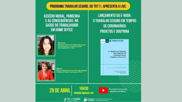 TRT 11: live debaterá assédio moral, pandemia e as consequências na saúde do trabalhador em home office