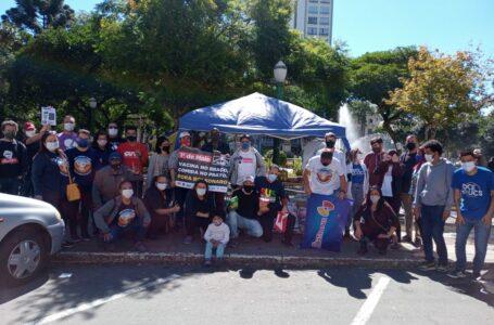 Centrais sindicais e Comitê Popular de Caxias fazem campanha de doações de alimentos no Dia do Trabalhador
