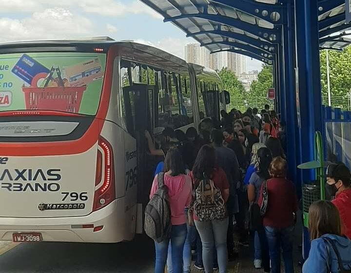Sindicomerciários e Sindilojas querem mais horários no transporte coletivo para evitar a superlotação
