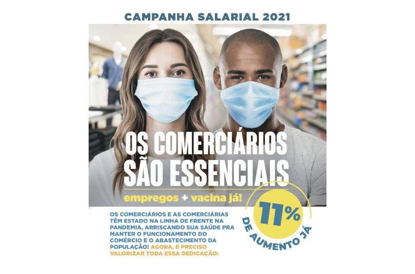 COMERCIÁRIOS DE CAXIAS REIVINDICAM 11% DE REAJUSTE SALARIAL