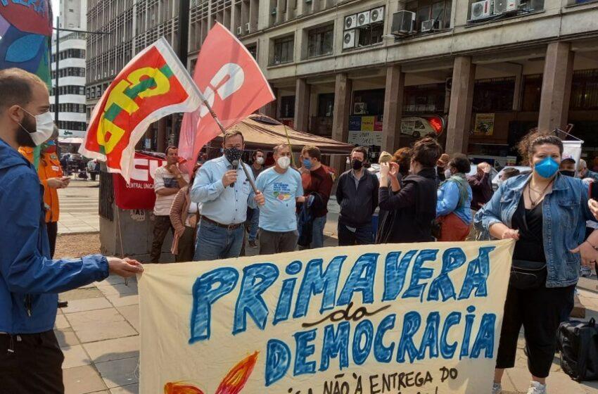Lançamento de plebiscito popular sobre as privatizações no RS