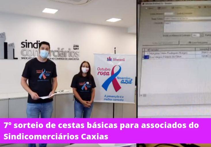 Saiba quem são os ganhadores do 7º sorteio de cestas básicas para associados do SINDICOMERCIÁRIOS CAXIAS