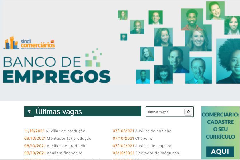 SINDICOMERCIÁRIOS LANÇA PLATAFORMA BANCO DE EMPREGOS