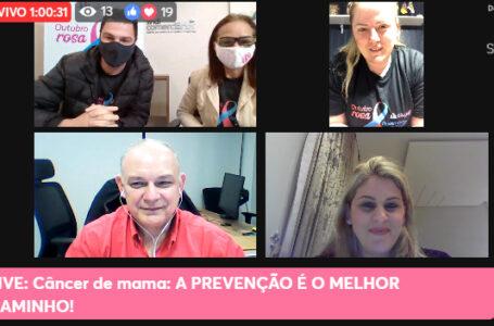 Live do Outubro Rosa debate a prevenção ao câncer de mama e os direitos aos atingidos pela doença